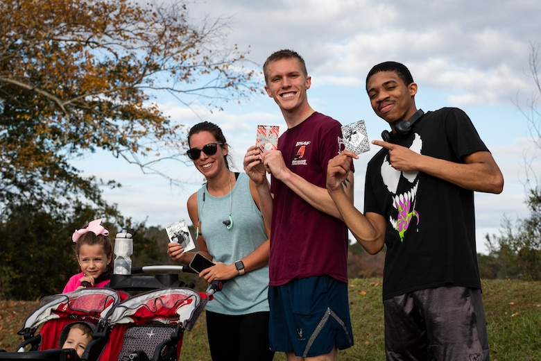 A photo of the winners of the Health and Readiness Optimization Dash 4K