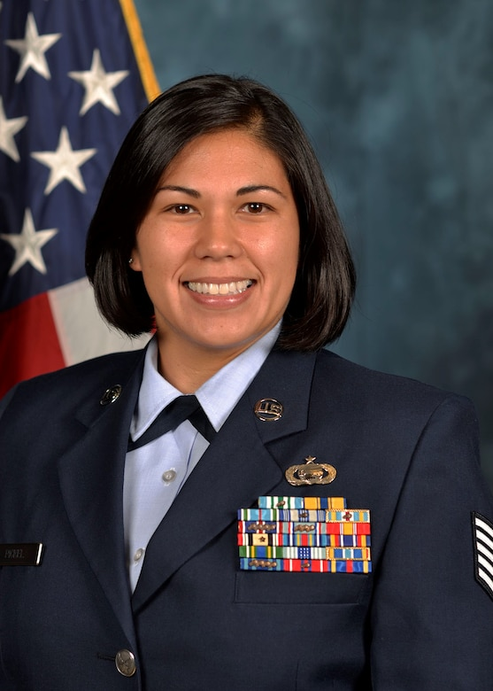 Master Sgt. Calantha Pickel, 628th Force Support Squadron airman leadership school commandant. (U.S. Air Force courtesy photo)