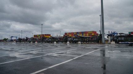 Going home: Atlantic Resolve port operations in Romania