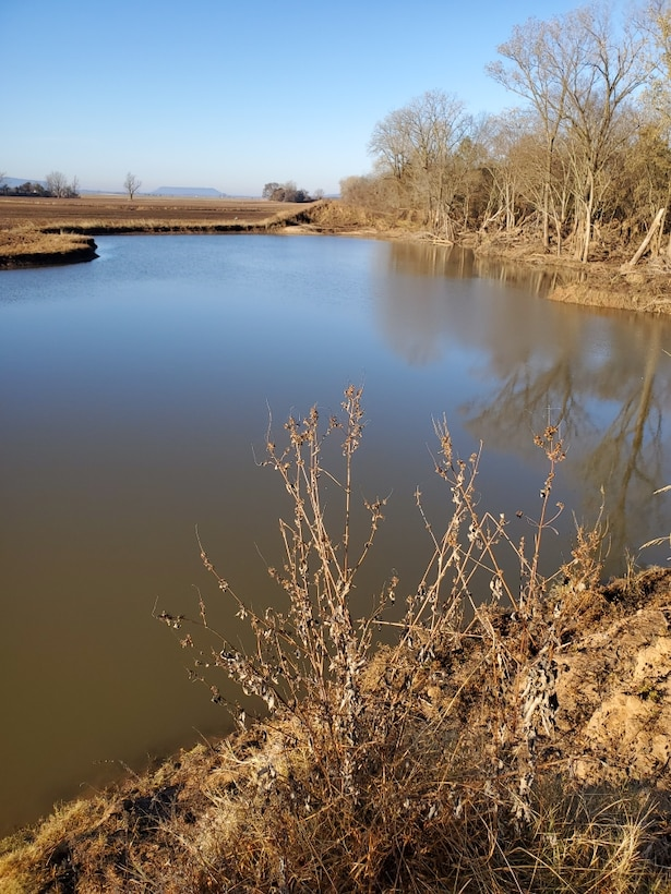 McLean Bottom levee after the Spring 2019 Arkansas River flood