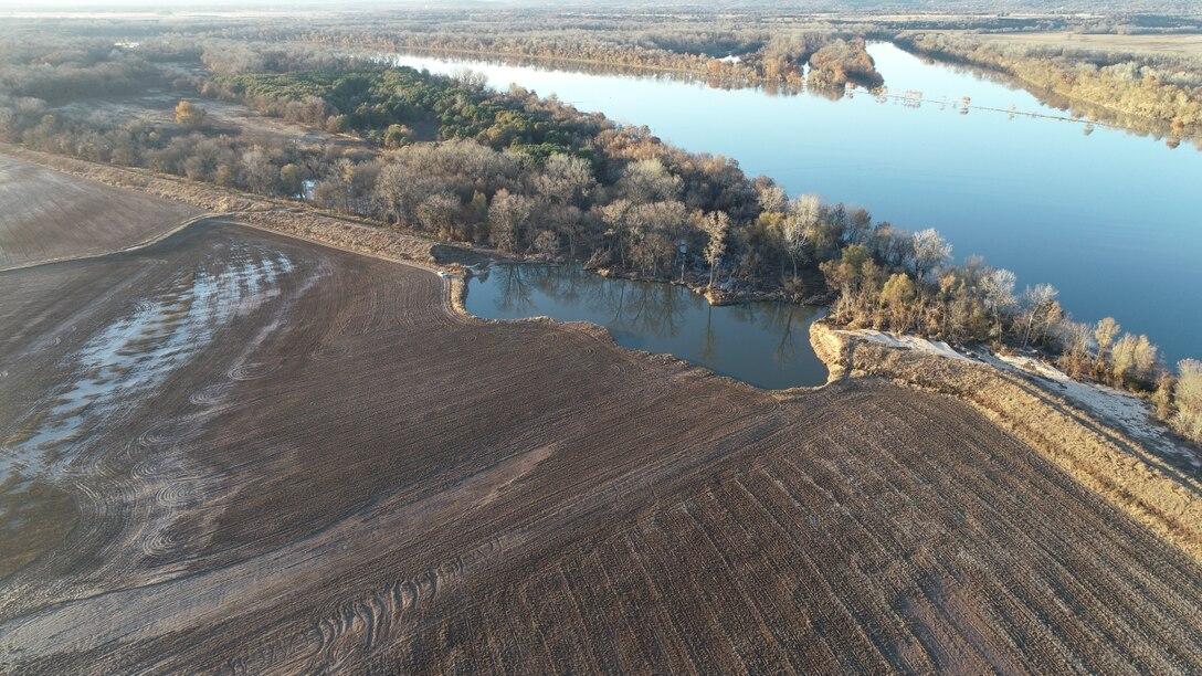 McLean Bottom levee after the Spring 2019 Arkansas River flood