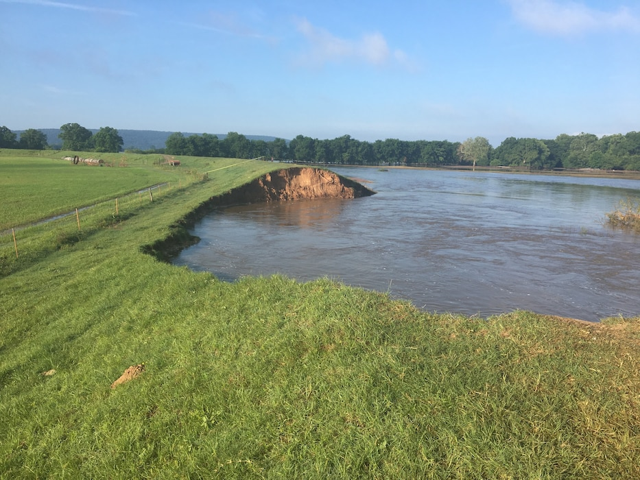 Faulkner County Levee after the Spring 2019 Arkansas River Flood