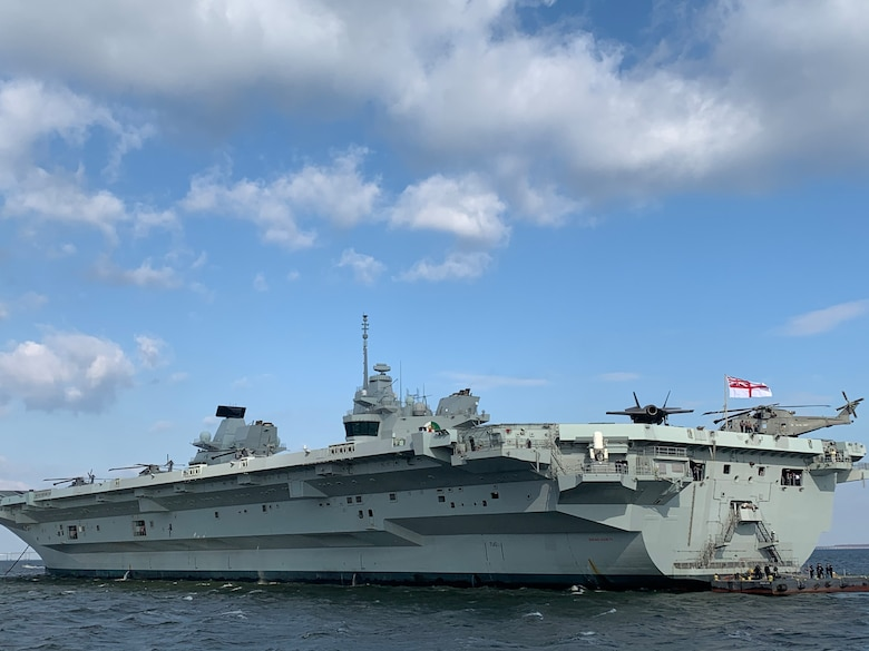 The HMS Queen Elizabeth is the largest and most powerful vessel ever constructed for the Royal Navy. The warship is capable of carrying up to 40 aircraft. The flight deck of HMS Queen Elizabeth is an enormous four acres, and will be used to launch the new F-35 Joint Strike Fighter fast jet. (Courtesy photo)