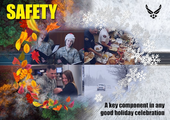 Poster of Safety component for holiday celebration.