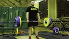 Soldiers train for the Army Combat Fitness Test while overseas