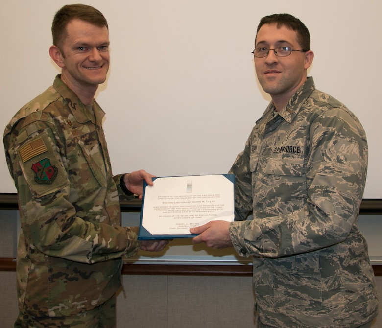 Tilley Promoted to First Lieutenant