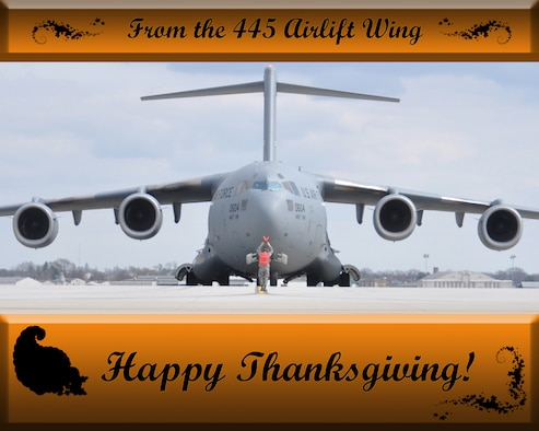 Happy Thanksgiving from the 445th Airlift Wing.