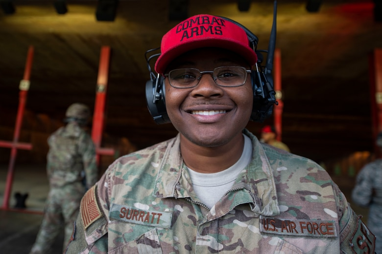 A photo of an Airman, with the 23d Security Forces Squadron, smiling for a photo.
