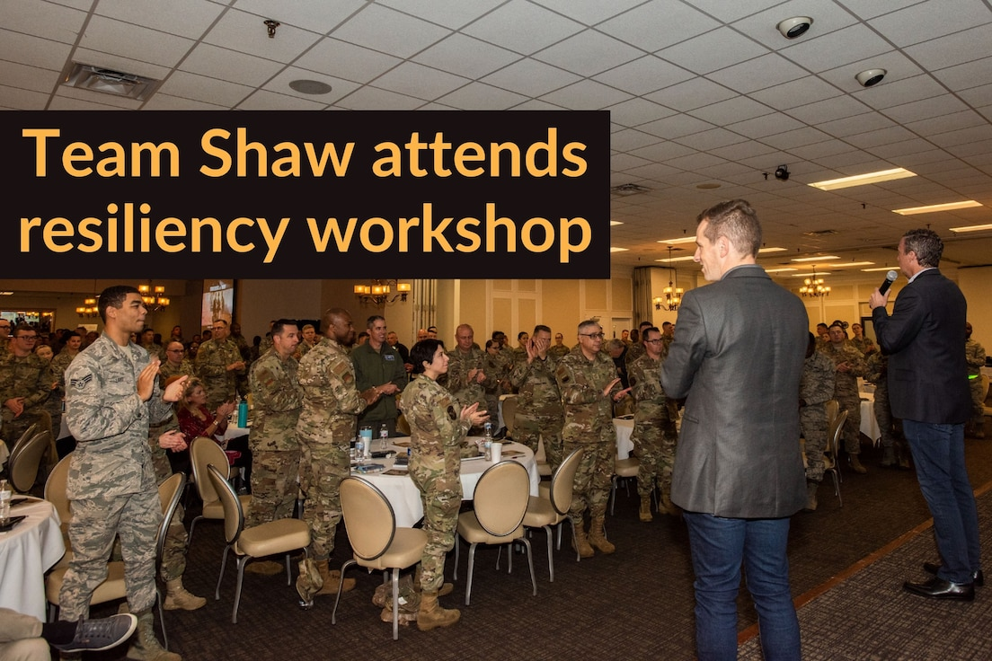 Photo of Team Shaw members attending a resiliency workshop