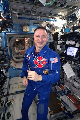 "Col. Andrew Morgan, formerly assigned to BAMC as an emergency physician, arrived on the International Space Station July 20, 2019, the 50th anniversary of the moon landing. Morgan will spend more than six months conducting about 350 science investigations. ""It is an honor to have Brooke Army Medical Center, the gold standard in military trauma and burn care, aboard the International Space Station with me,"" said Morgan, who then displayed an organization T-shirt and set a BAMC coin spinning in zero gravity to huge cheers and applause."