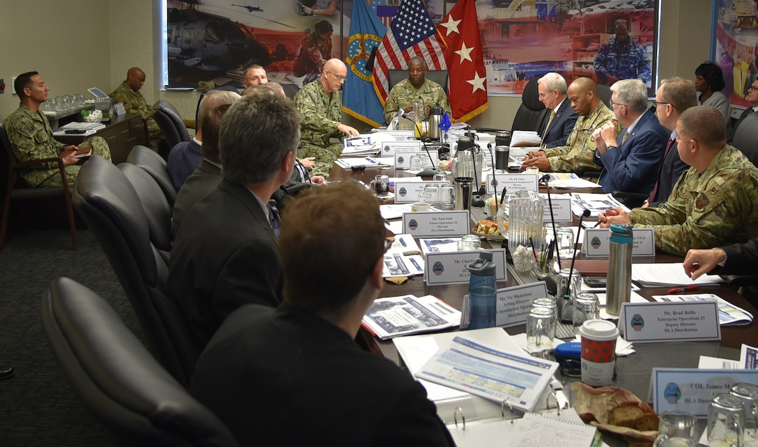 DLA Director reviews DLA Distribution dynamic operating plan with eye on modernization efforts designed to drive the agency into the 21st century