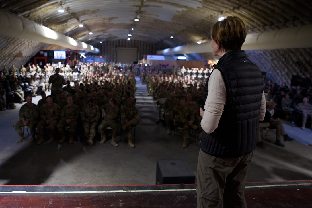 SECAF and CSAF address Airmen during an all-call
