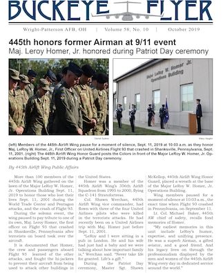 The October 2019 issue of the Buckeye Flyer is now available. The official publication of the 445th Airlift Wing includes eight pages of stories, photos and features pertaining to the 445th Airlift Wing, Air Force Reserve Command and the U.S. Air Force.