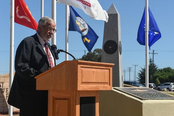Photo from the POW/MIA Remembrance Week Closing Ceremony at Vandenberg Air Force Base.