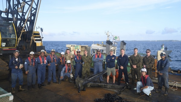 Lost at Sea: Okinawan Military Contractors to Salvage a Lost Anchor off Shore of White Beach