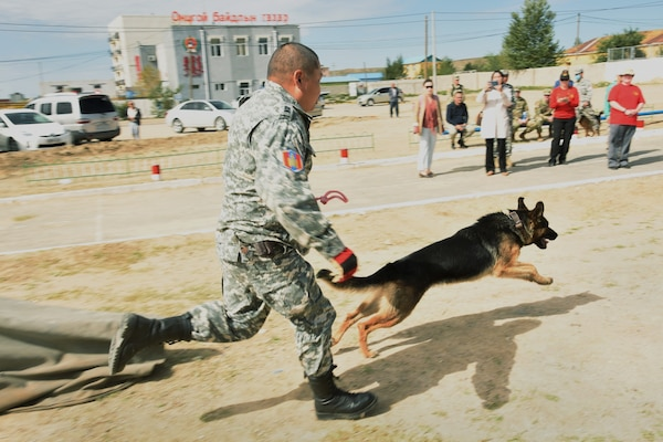 Canine Trainers bring Experience, Compassion to Mongolian Disaster Response Exercise