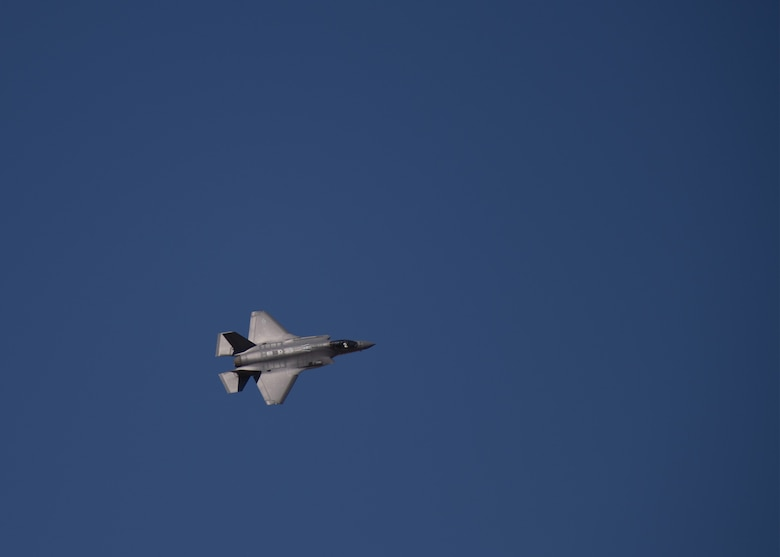 An F-35A Lightning II, assigned to the 56th Fighter Wing, flies Oct. 1, 2019, at Luke Air Force Base, Ariz.