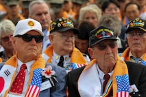 U.S. and Korean veterans of the Korean War attend the Changjin Campaign Commemoration Ceremony in Seoul, Sep 27. The annual Commemoration marks the 69th anniversary of the Battle of Chosin Reservoir and brings together U.S. and Korean veterans to remember and honor the heroes of the Changjin Campaign. (U.S. Marine Corps photo by Sgt. Parker Golz)