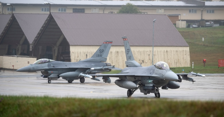 The training event exhibited the 52nd Fighter Wing's ability to generate large number of aircraft, and is an effective deterrent to threats by demonstrating a show of force.