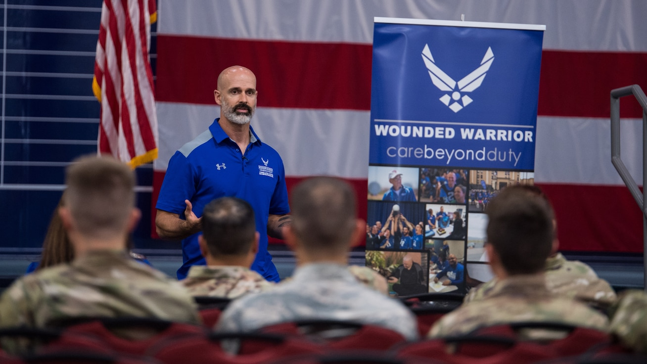 Air Force Wounded Warrior Program ambassador visits Barksdale