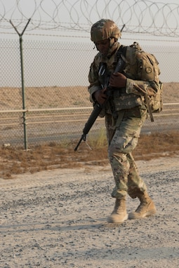 Public Affairs Soldier Completes 12-Mile Ruck March