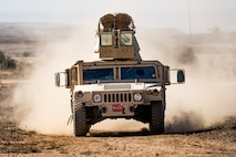 U.S. Marines with 1st Battalion, 5th Marine Regiment, 1st Marine Division, drive a M1114 Humvee during the Marine Corps Combat Readiness Evaluation (MCCRE) on Marine Corps Base Camp Pendleton, California, Sept. 21, 2019. 5th Marines conducted a regimental-sized MCCRE for 1st Battalion, 5th Marines and 2nd Battalion, 5th Marines, as well as the Regimental Headquarters to increase the combat proficiency and readiness of the regiment. The MCCRE took place over a 10 day period and served as proof of concept for future regimental-sized MCCREs. (U.S. Marine Corps photo by Lance Cpl. Alexa M. Hernandez)