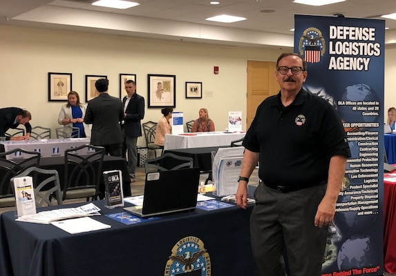 DLA Land and Maritime recruiter, David Lanzillotta, participated in the Ohio State University (OSU)  Economics Career Fair on Thursday, September 19, at the Ohio Union.