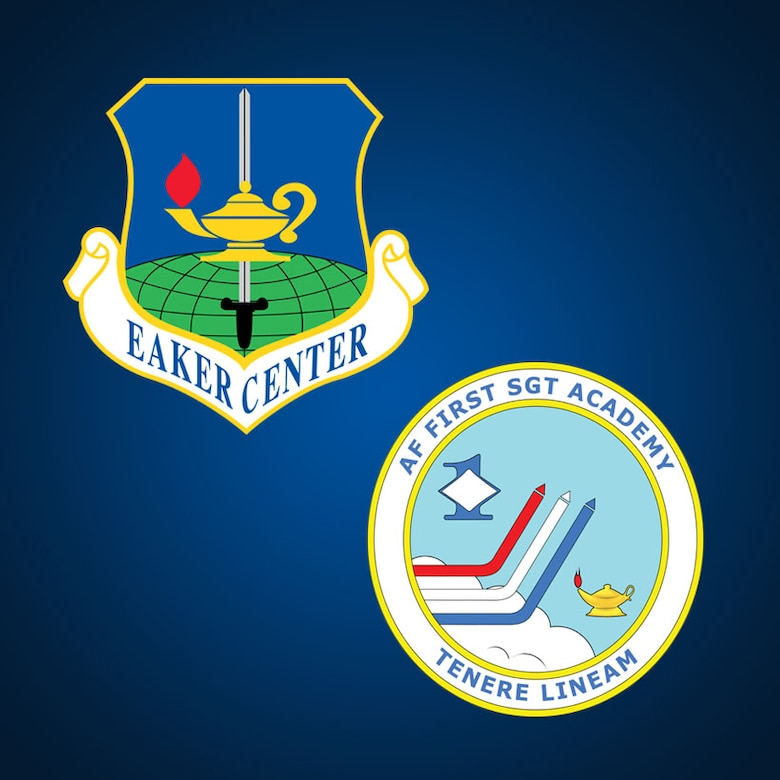 The U.S. Air Force First Sergeant Academy transferred to Air University's Ira C. Eaker Center for Leadership Development effective Oct. 1, 2019. While the First Sergeant Academy will remain on Maxwell Air Force Base's Gunter Annex, the organizational transfer positions the Eaker Center as the go-to source for comprehensive leadership development and education. ( U.S. Air Force graphic by Senior Airman Alexa Culbert)