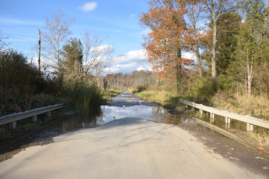 Photo showing the The U.S. Army Corps of Engineers' Stanford Run restoration project,