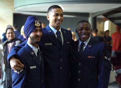 Airman 1st Class Sunjit Rathour earns his Security Forces beret as the first Sikh Airman to secure full religious accommodation, starting at Basic Military Training through Security Forces Apprentice Course, to wear a turban and remain unshaven in uniform. He graduated Security Forces technical training at Joint Base San Antonio-Lackland Sept. 26, 2019.