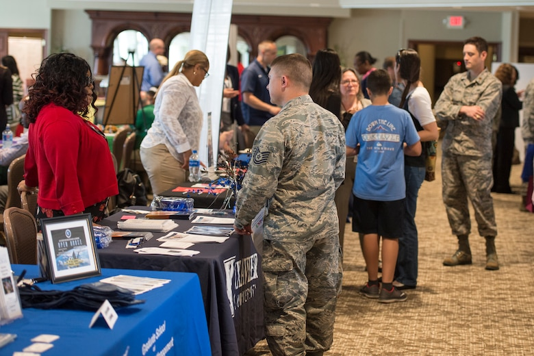 Advisors from more than 50 colleges will be on hand to provide information on educational development opportunities and various career programs at the annual 88th Force Support Squadron's Education and Training Fair on Thursday, Oct. 24 from 10 a.m. to 2 p.m. at the National Museum of the United States Air Force. (U.S. Air Force photo/Wesley Farnsworth)