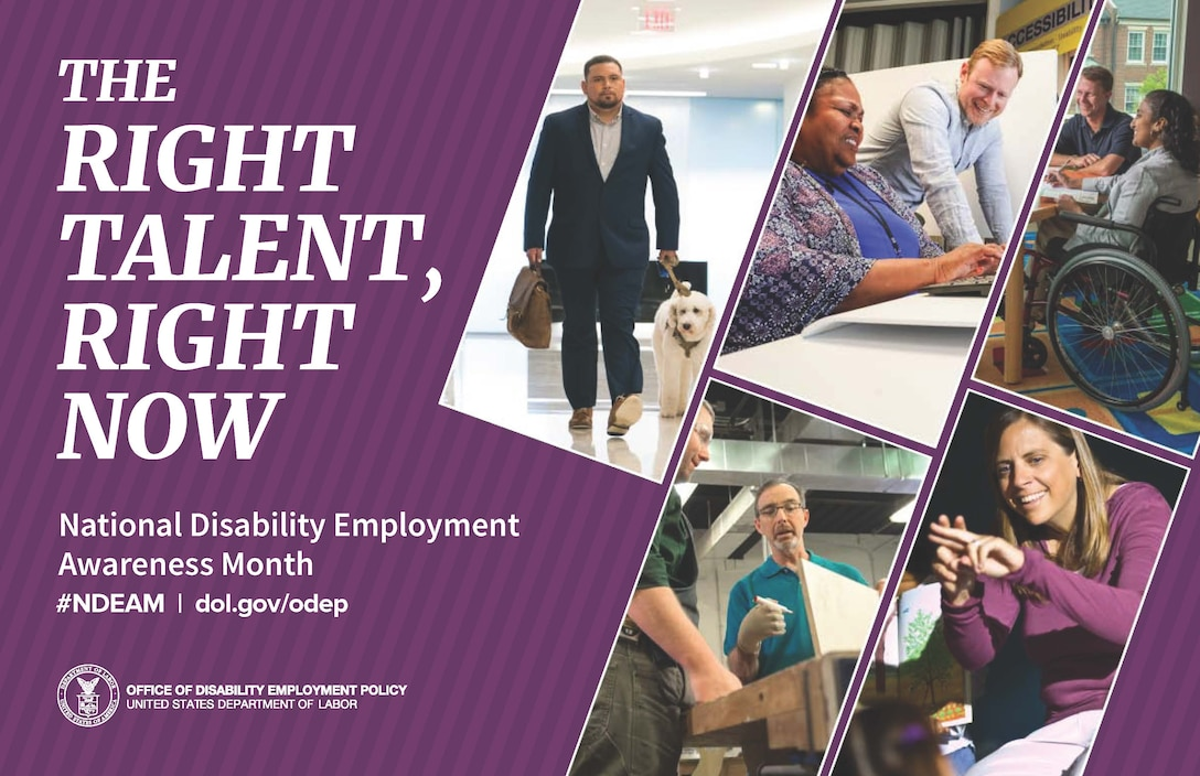 National Disability Employment Awareness Month is a nationally recognized awareness campaign.