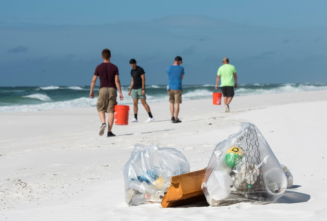 On Sept. 21, I joined 43 Eglin personnel along with Ocean Conservancy in collecting six large dumpsters of trash and large debris from the Santa Rosa Island water range resulting in 11.5 tons of trash.