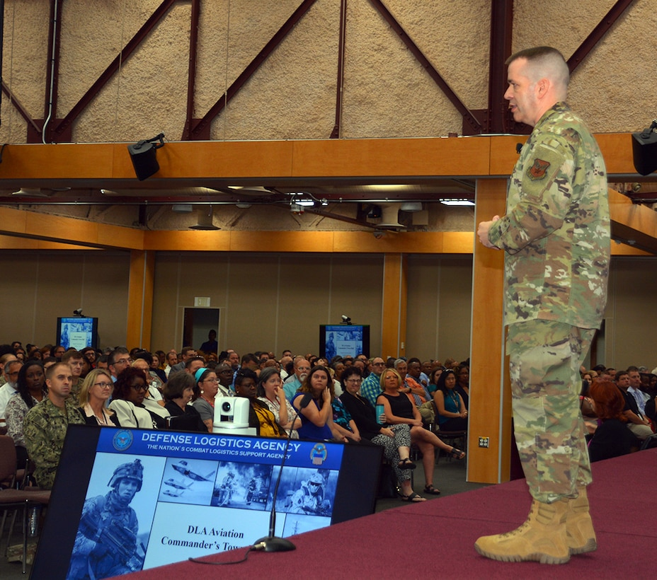 DLA Aviation commander holds first Richmond town hall