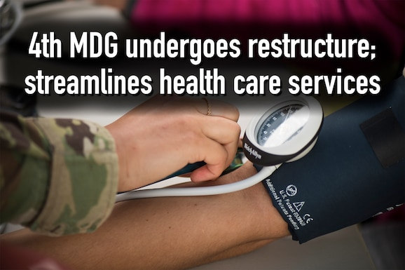 Beginning Oct. 7, 2019, the 4th Medical Group (MDG) at Seymour Johnson Air Force Base will start reorganizing health care services offered at the clinic.