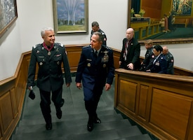 CSAF hosts Inspector of the Polish Air Force at the Pentagon