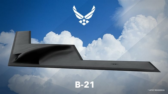 An artist rendering of the B-21 Raider. The 420th Flight Test Squadron was reactivated following an assumption of command ceremony here Oct. 4. The squadron will plan, test, analyze and report on all flight and ground testing of the B-21 Raider. (Courtesy graphic)