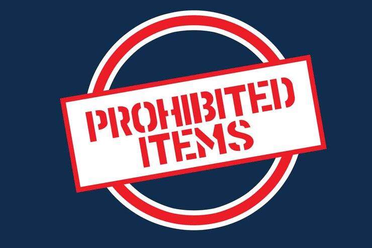 Prohibited Items graghic