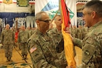 "The Soldiers with the 169th Field Artillery Brigade welcome Col. Scot J. Hartman, incoming commander, and say farewell to Col. Scott M. Sherman, outgoing commander, during a ceremony Sept. 7, 2019, at the William ""Bill"" Reed Special Events Center on Fort Carson, Colorado. Col. Robert B. Davis, commander, land component command, presided over the ceremony, and while it was a somber goodbye to Sherman, Davis said he was happy to welcome Hartman, who enlisted in 1989 . (U.S. Army Colorado National Guard photo by Sgt. 1st Class Aleah M. Castrejon)"