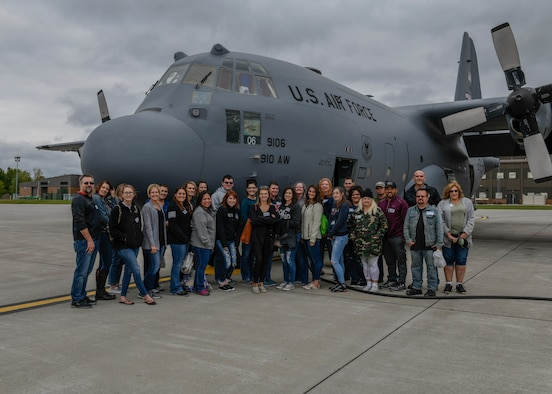 Youngstown Air Reserve Station provided two C-130H Hercules aircraft for spouse flights on Oct. 4, 2019. Spouse flights are offered at the wing commander's discretion to military spouses on an installation at different times throughout the year.