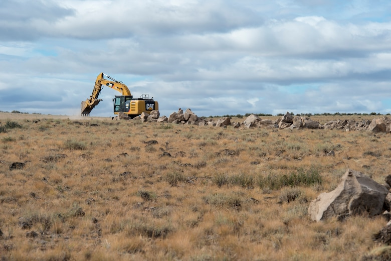 Idaho National Guard Airmen and Soldiers from the 124th Fighter Wing and the 116th Cavalry Brigade Combat Team participate in the Innovative Readiness Training at the Duck Valley Reservation helping repair and build new roads for the Shoshone-Paiute Tribe, Aug 22, 2019.