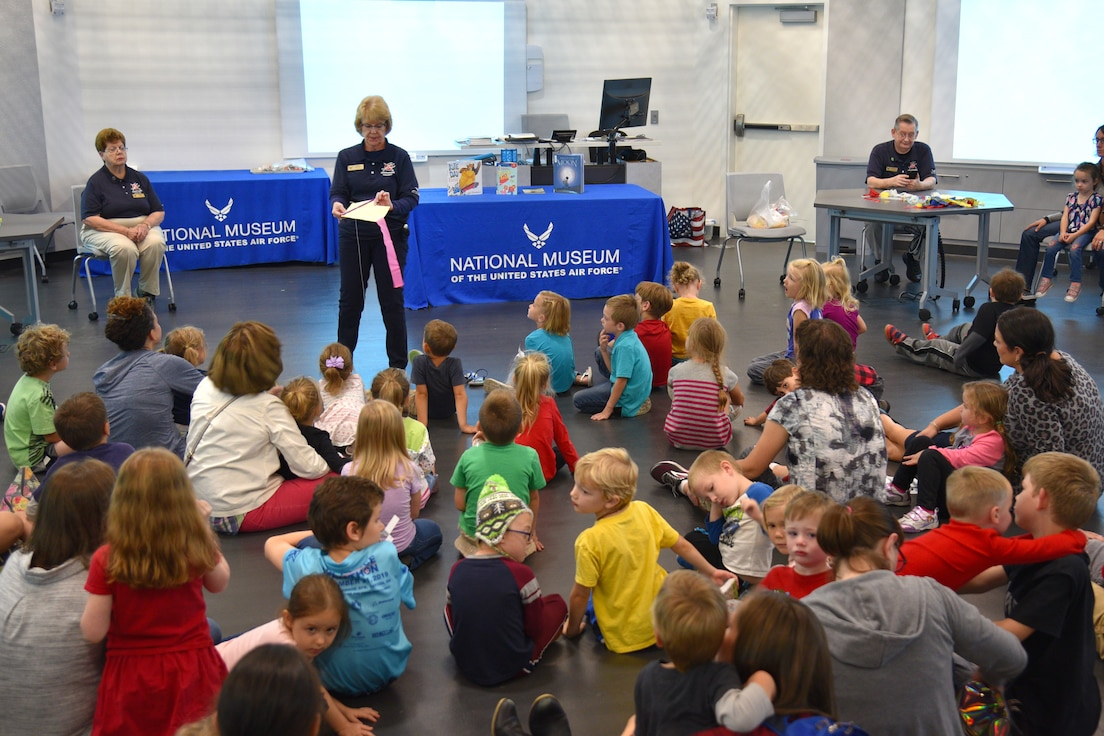 DAYTON, Ohio -- Students participating in Home School STEM Day on Oct. 7, 2019, at the National Museum of the U.S. Air Force. Students enjoyed the guided tours, scavenger hunts, hands-on classes and aerospace demonstration stations. (U.S. Air Force photo)