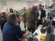 Marine Corps Logistics Base Albany command leadership visited the Joint Enterprise Fielding & Surveillance Facility (JEFS) in Albany, Georgia, Sept. 18. (U.S. Marine Corps photo by Marvin Thomas)