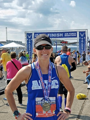 Reservist takes on Air Force Marathon