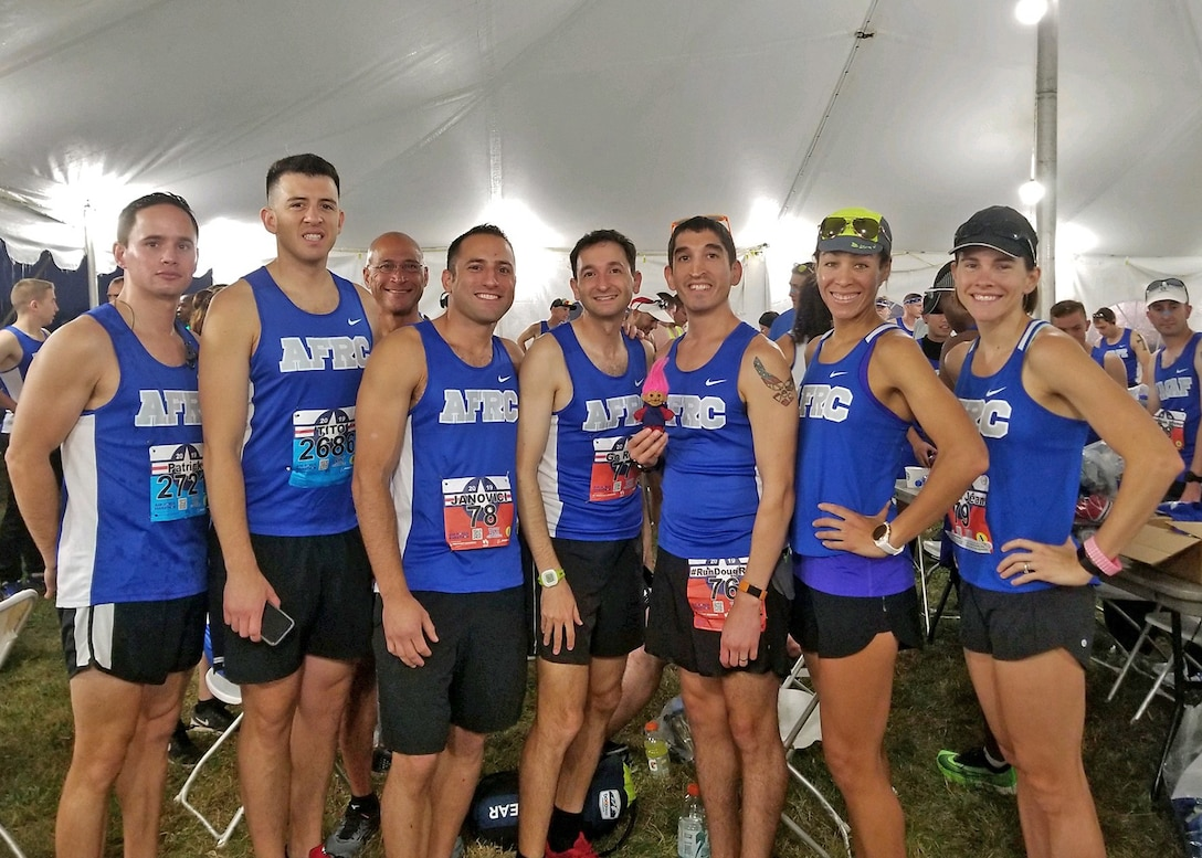 Reservist takes on Air Force Marathon