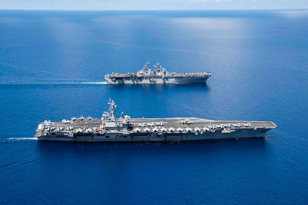 Ronald Reagan CSG, Boxer ARG Provide Ready, Capable Forward Presence in Indo-Pacific
