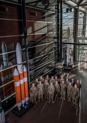 Air War College faculty members met with senior leaders from U.S. Space Command and Headquarters, Air Force Space Command on Peterson Air Force Base, Colo., Sep. 30, 2019, at the start of a week-long staff ride to the Front Range, focusing on the important role of the space warfighter. The purpose of the training was to educate AWC faculty on challenges and opportunities the space community is facing in order to help prepare their students to advocate for space as they step into increasingly more strategic positions regardless of their service, country or career field. (U.S. Air Force photo by Dave Grim)