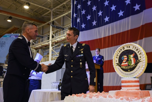 The 31st Fighter Wing hosted the 25th Anniversary of the 31st FW Celebratory Banquet on Oct. 5, 2019, at Aviano Air Base, Italy.