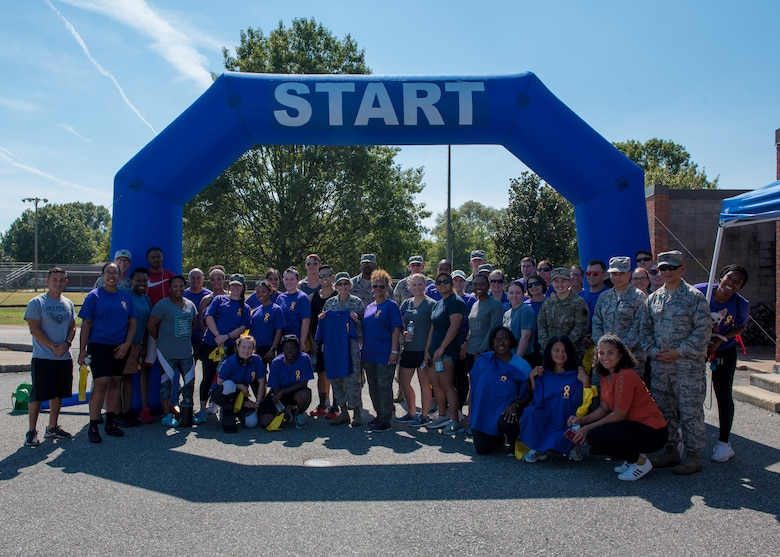 To help raise awareness and in an effort to prevent future suicides, Airmen, family and friends participated in the H.O.P.E. Walk at Joint Base Langley-Eustis, Virginia, September 27, 2019.