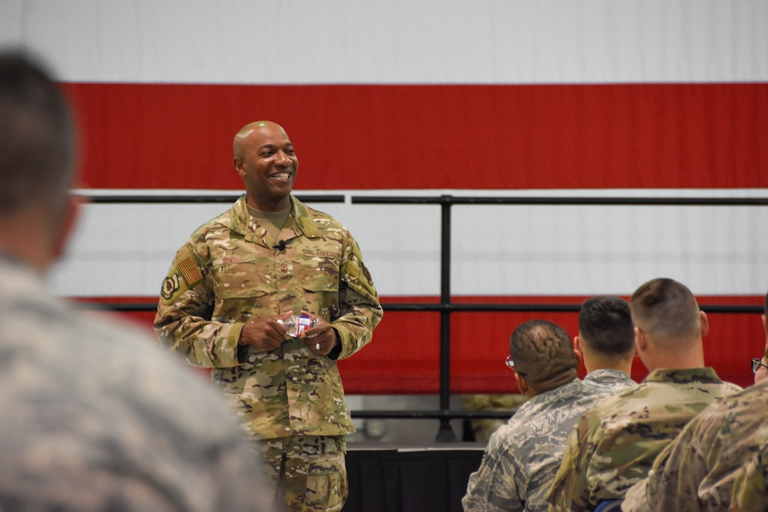 CMSAF Wright visits 442d Fighter Wing